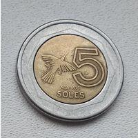 Перу 5 новых солей, 1995 7-14-28
