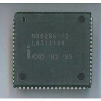 N80286-12 Intel - 16-разрядный ретро-процессор от компьютера AT-286