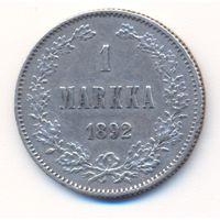 1 марка 1892 г.  L (для Финляндии)