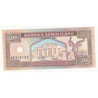 Сомали 20 шиллингов 1994 года. Состояние UNC!