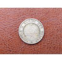 5 сантимов 1895 Бельгия ( Надпись на голландском - 'DER BELGEN' )