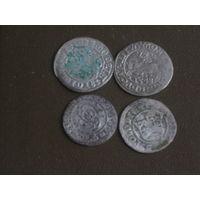 Четыре старопольские серебряные монеты #3