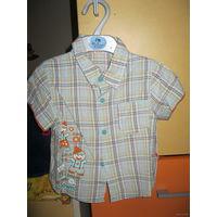 Рубашка оранжевый верблюд р. 80-86