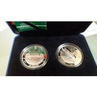 ЧМ по хоккею 2014, две монеты в футляре, 20 рублей