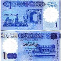 Ливия  1 динар 2019 год   UNC  полимер  (новинка)