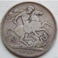 55. Англия 1 крона 1889 год, серебро*