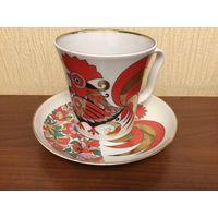 Чашка с блюдцем ЛФЗ( Ленинградский фарфоровый завод)