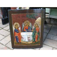 Икона Святая Троица старинная