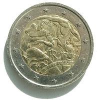 2 евро Италия 2008 г. 60 лет принятия Всеобщ.деклар.прав человека
