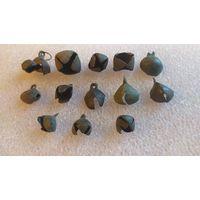 Колокольчики - бубенчики на реставрацию, 13 штук