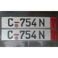Номерной знак Германия, транзит. 2000год.