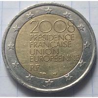 Франция 2 евро, 2008 Председательство Франции в Европейском Союзе во 2-ой половине 2008 года    ( 6-6-5 )