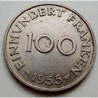 Саар. 100 франков 1955 г.