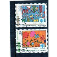 Мозамбик.  Mi:MZ 694, 696 Международный год ребенка, 1979 год