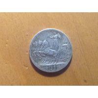 Италия 1 лира 1910г