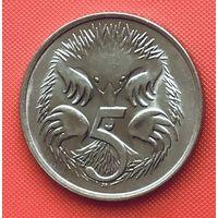 21-01 Австралия, 5 центов 1982 г. В отличном сохране.