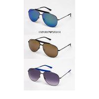 Солнцезащитные очки-авиаторы EMPORIO ARMANI, 100 % оригинальные с сертификатом подлинности, Made in Italy