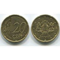 Латвия. 20 евроцентов (2014)