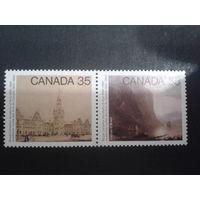 Канада 1980 100 лет Академии искусств, живопись сцепка