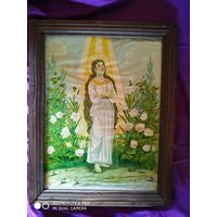 Плака-Икона  в рамке католический .