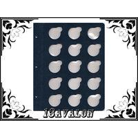 Лист Синий, для монет в капсулах D= 36 мм, Коллекционер КоллекционерЪ в альбом для капсул