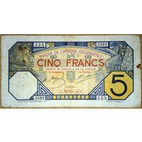 Дакар 5 франков 1926г.