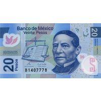 Мексика 20 песо образца 2010 года UNC p122eN полимерная