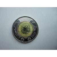Канада 2 доллара 2015 Макдональд монета из рола