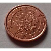 1 евроцент, Германия 2014 D, UNC