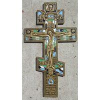 Крест Распятие эмали