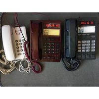 Три стационарных телефона вместе Фаэтоны с определителем номера и Проводной телефон panasonic kx-ts2360ruw Малайзия