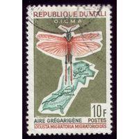 1 марка 1964 год Мали Малярийный комар 84