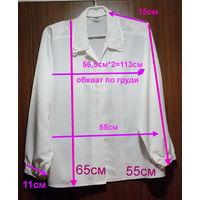 Блузки белая с вышивкой и черная из 80-90х, р.46-48