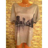 Стильная блуза Город на красавицу 54-56 размера. Смотрится потрясающе, покупала за границей. Длина 70, ПОгруди 63см, спинка открыта.
