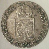РАСПРОДАЖА!!! - АВСТРИЯ 6 крейцеров 1849 год  (серебро)