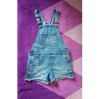 Комбинезон джинсовый ZARA Girls collection. Идеальное состояние. Размер 10, 140 см. 10-11 лет