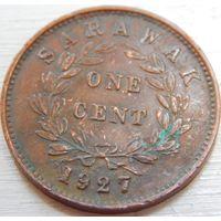 10. Саравак 1 цент 1927 год