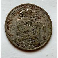 Голландская Ост-Индия 1/10 гульдена, 1905 1-7-24