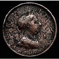 Великобритания пенни 1806. Огромный (d=33mm)