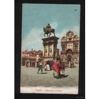 Италия Венеция  Monumento Colleoni  литография