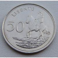 """Лесото. 50 лисенте 1983 год KM#21 """"Мошвешве II"""""""