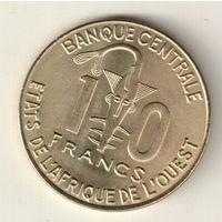 Западная Африка 10 франк 2008