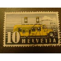 Швейцария. 1937г. Почтовый автобус.