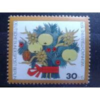 Берлин 1974 Рождество Михель-1,0 евро