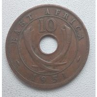 Британская Восточная Африка 10 центов, 1951  6-6-15