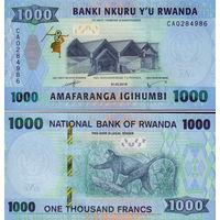 Руанда  1000 франков  2019 год   UNC  (новинка)