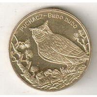 Польша 2 злотый 2005 Филин