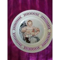 Коллекционная фарфоровая тарелка по картине К.Ларссона. Дания.