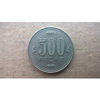 Япония 500 йен.  2008г. (D)Возможен обмен на 500 йен 1982-1999г