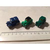 Киндер машинки 90-х автомобили 3 шт К-93
